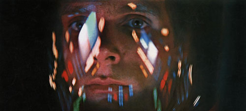 Keir Dullea in 2001: A Space Odyssey by Stanley Kubrick