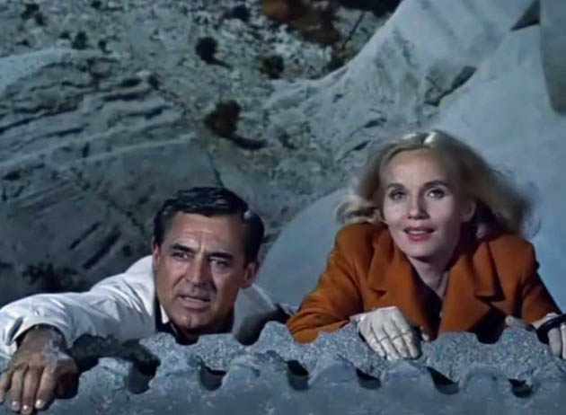 Alfred Hitchcock: Mount Rushmore scene with Eva Marie Saint Cary Grant in North by Northwest
