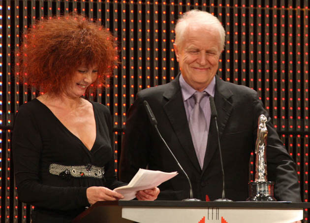 Sabine Azéma and André Dussollier European Film Awards. FIPRESCI win for Alain Resnais' Private Fears in Public Places