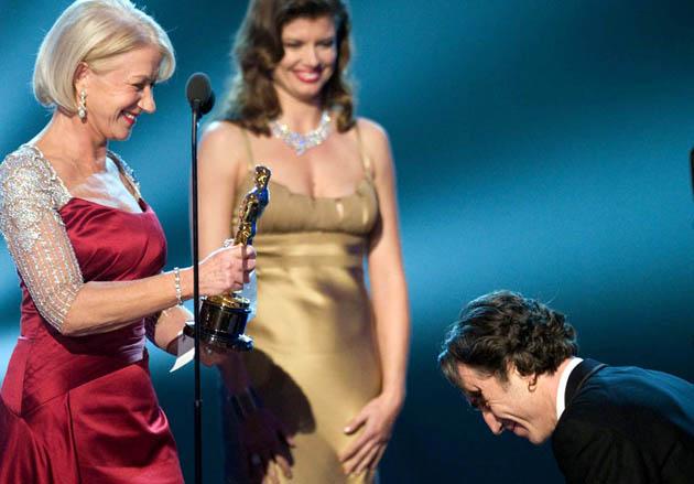 Helen Mirren Daniel Day-Lewis Oscar British etiquette