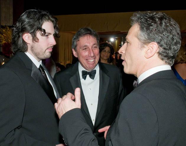 Jason Reitman, Ivan Reitman, Jon Stewart