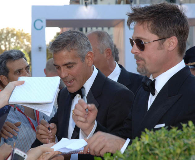 George Clooney Brad Pitt together Venice