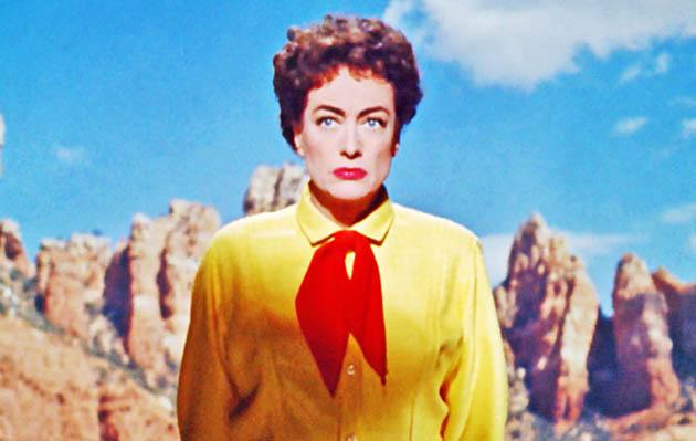 Johnny Guitar Joan Crawford. National Film Registry entry has Mercedes McCambridge as vengeful lesbian