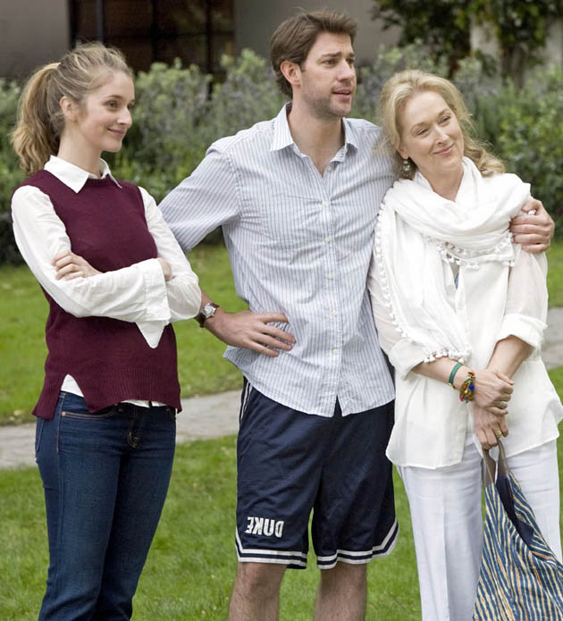 It's Complicated with Meryl Streep John Krasinski Caitlin FitzGerald. Best Ensemble but not Best Actress