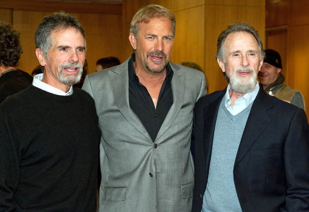 Kevin Costner with Field of Dreams Die Hard and Waterworld producers Lawrence Gordon Chuck Gordon