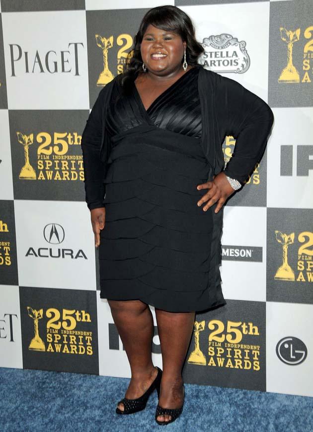 Gabourey Sidibe Best Actress Spirit Award winner