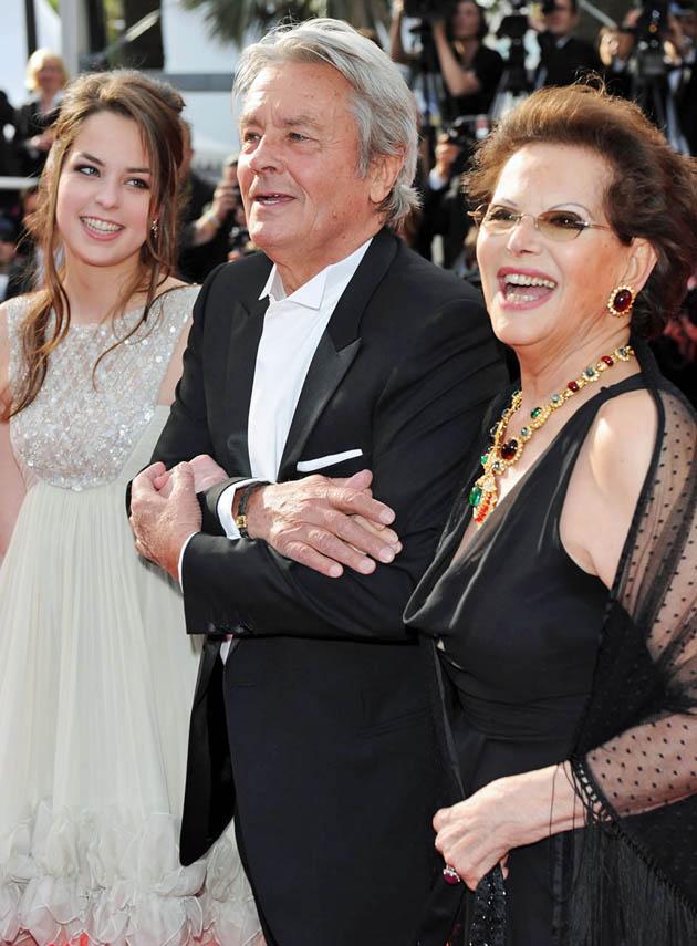 Alain Delon daughter Anouchka Delon Claudia Cardinale