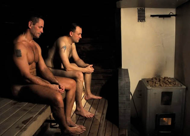 Sauna movie Steam of Life: naked men exposing themselves 1st Best Foreign Language Film doc nominee?