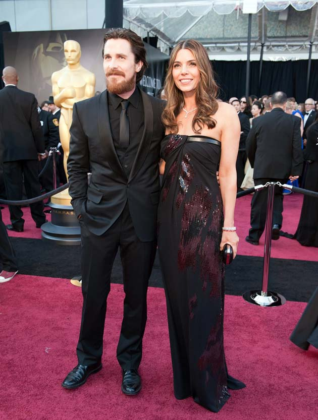 Christian Bale wife Sibi Blazic Oscars