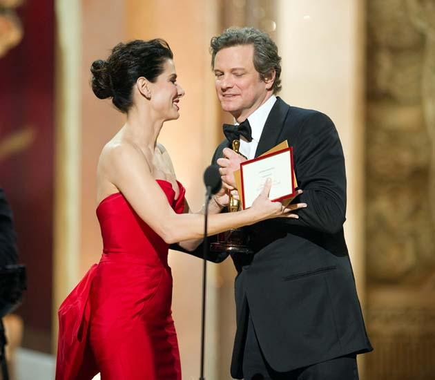 Sandra Bullock Colin Firth Oscar