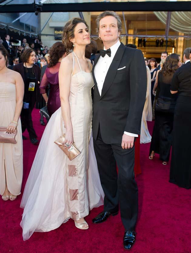 Colin Firth and wife Livia Giuggioli Academy Awards