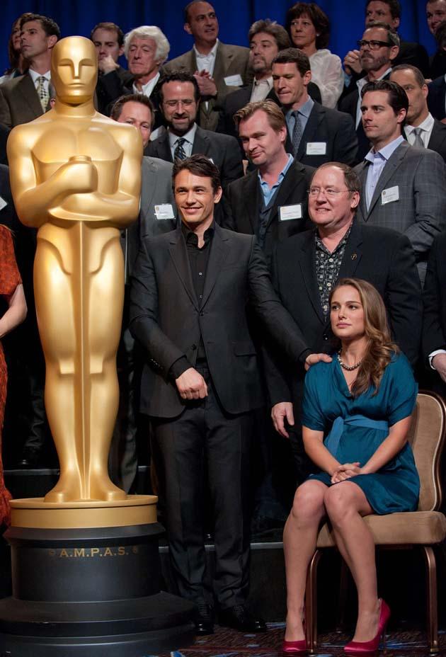 Oscar Luncheon James Franco Natalie Portman