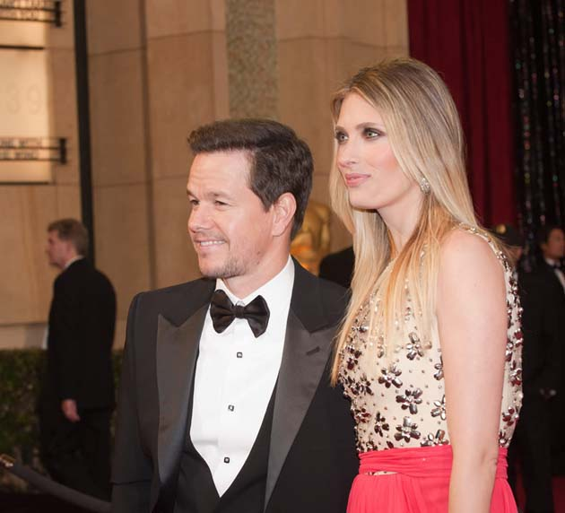 Mark Wahlberg and wife