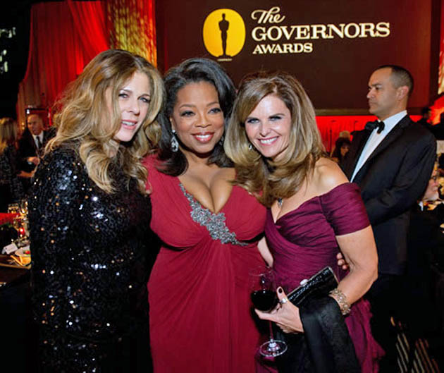 Tom Hanks' wife and actress Rita Wilson Oprah Winfrey Arnold Schwarzenegger estranged wife Maria Shriver