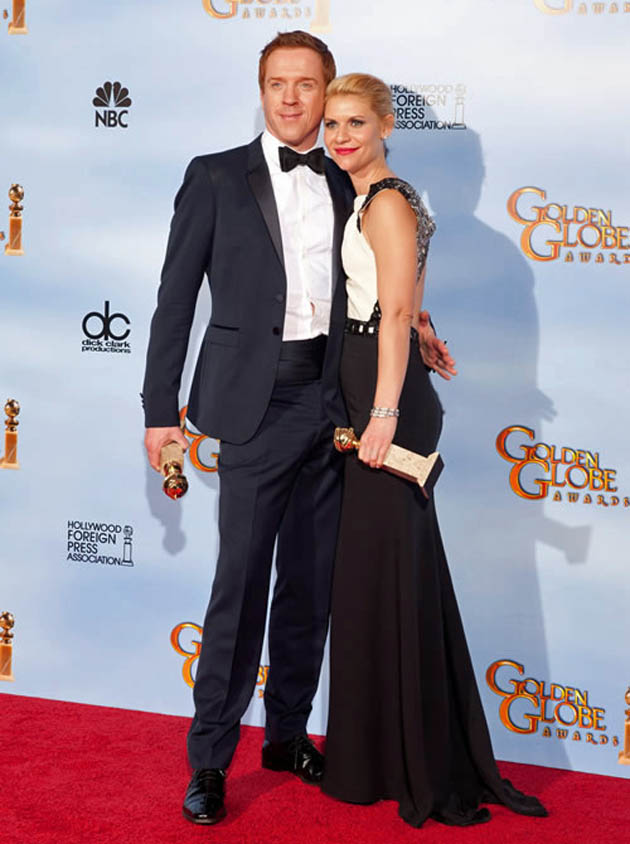 Damian Lewis Claire Danes Golden Globes winner and nominee
