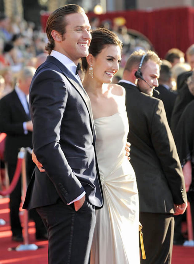 Armie Hammer and wife Elizabeth Chambers SAG Awards