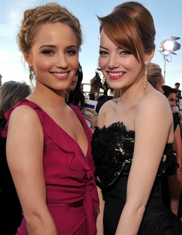 Dianna Agron Emma Stone SAG Awards nominees