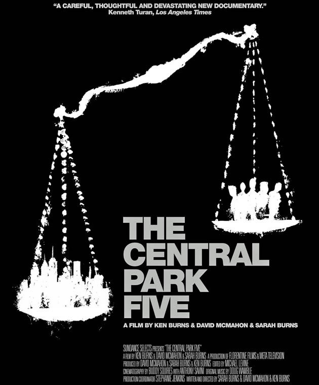 The Central Park Five 2012: New York City Police and justice system + media and Donald Trump vs five teenagers
