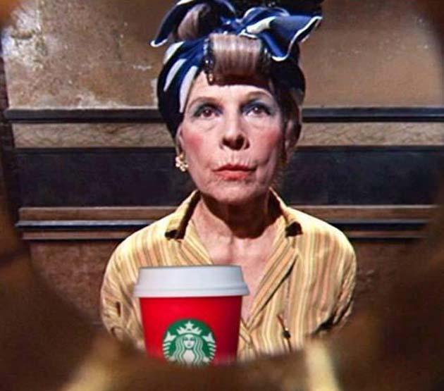Ruth Gordon Rosemary's Baby Starbucks War on Christmas