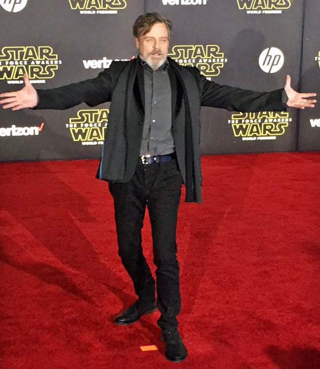 Star Wars The Force Awakens Premiere Mark Hamill Boycott? What boycott?