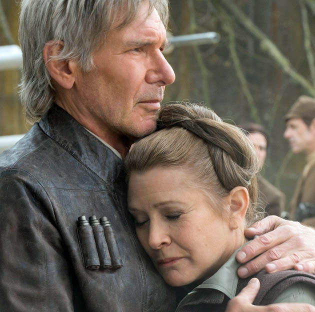 Star Wars: The Force Awakens Carrie Fisher Harrison Ford back from the future