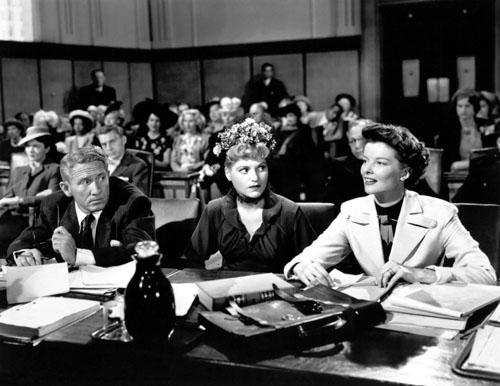 Spencer Tracy, Judy Holliday, Katharine Hepburn in Adam's Rib