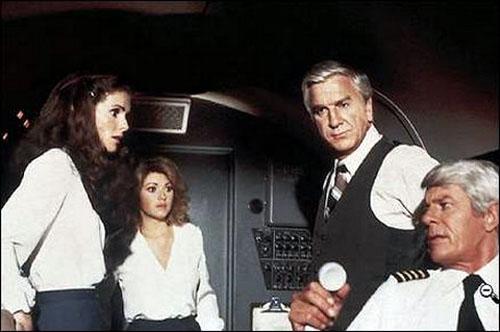 Julie Hagerty, Lorna Patterson, Leslie Nielsen, Peter Graves in Airplane!