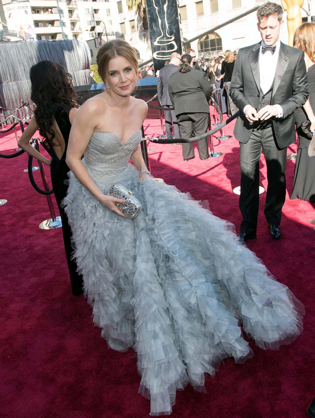 Amy Adams Oscar red carpet 2013