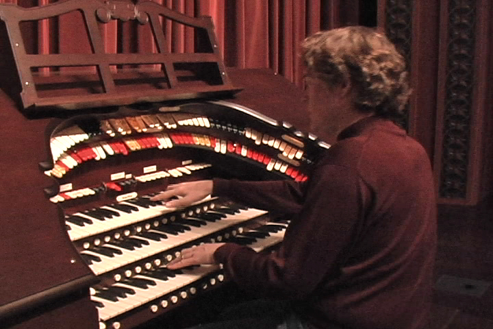 Andrew Simpson at the Wurlitzer