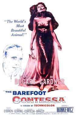 The Barefoot Contessa (1954) directed by Joseph L. Mankiewicz, starring Ava Gardner, Humphrey Bogart, Edmond O'Brien, Rossano Brazzi