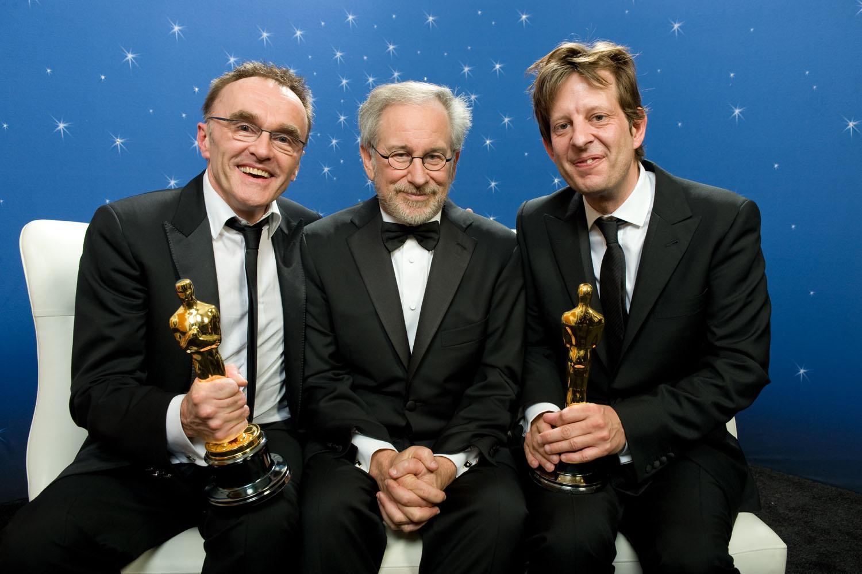 Danny Boyle, Steven Spielberg, and Christian Colson