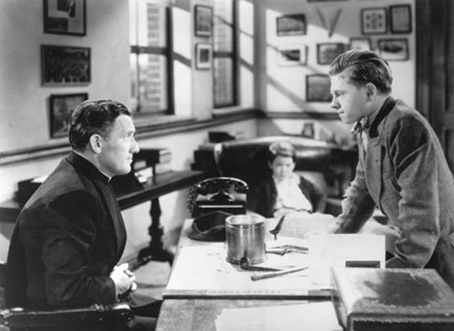 Spencer Tracy, Mickey Rooney in Boys' Town