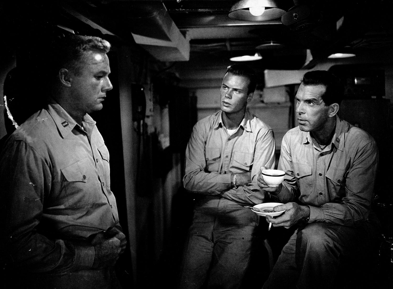 Van Johnson, Robert Francis, Fred MacMurray in The Caine Mutiny