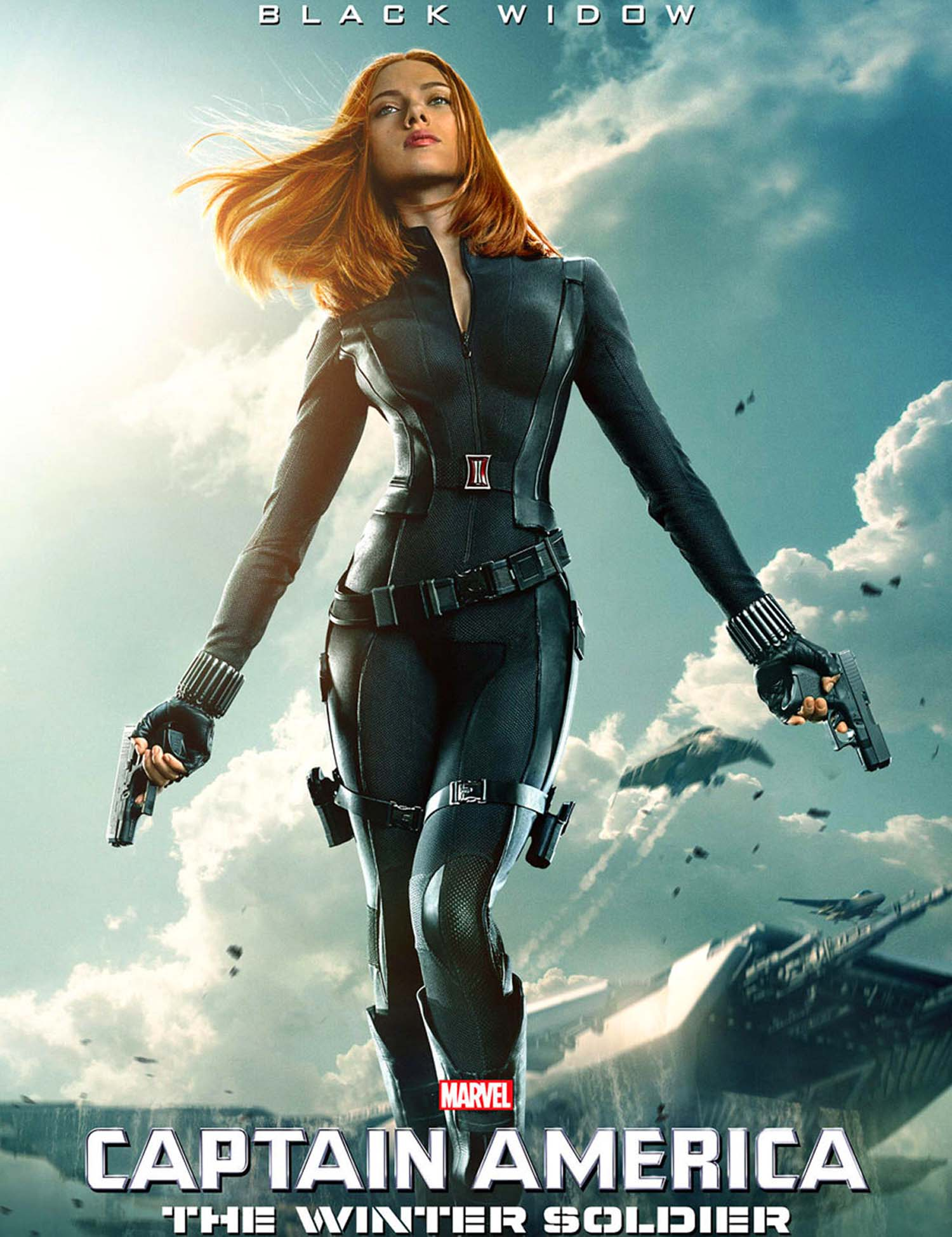 Captain America: The Winter Soldier poster Scarlett Johansson