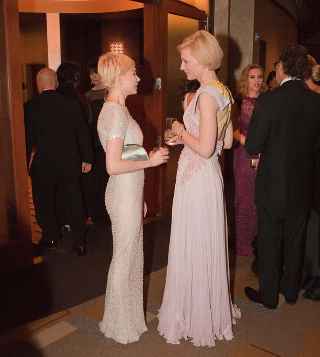 Cate Blanchett Michelle Williams Old Hollywood glamour Oscars