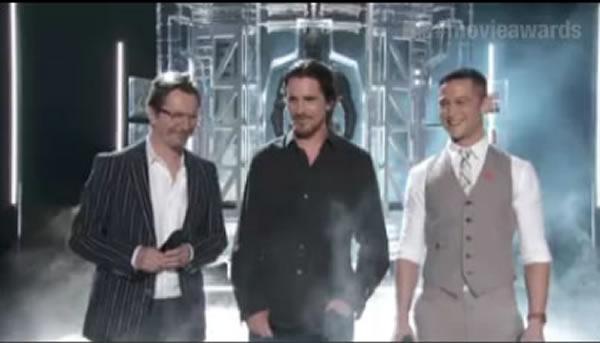 The Dark Knight Rises 'premiere' Christian Bale Joseph Gordon-Levitt Gary Oldman