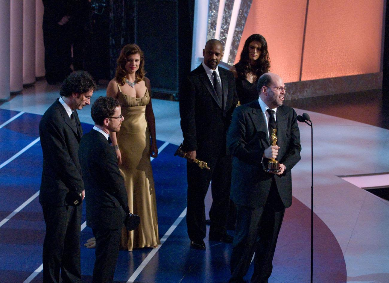 Joel Coen, Ethan Coen, Denzel Washington, Scott Rudin - Oscar 2008