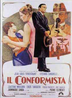 Il Conformista a.k.a. The Conformist (1970) directed by Bernardo Bertolucci, starring Jean-Louis Trintignant, Stefania Sandrelli, Dominique Sanda