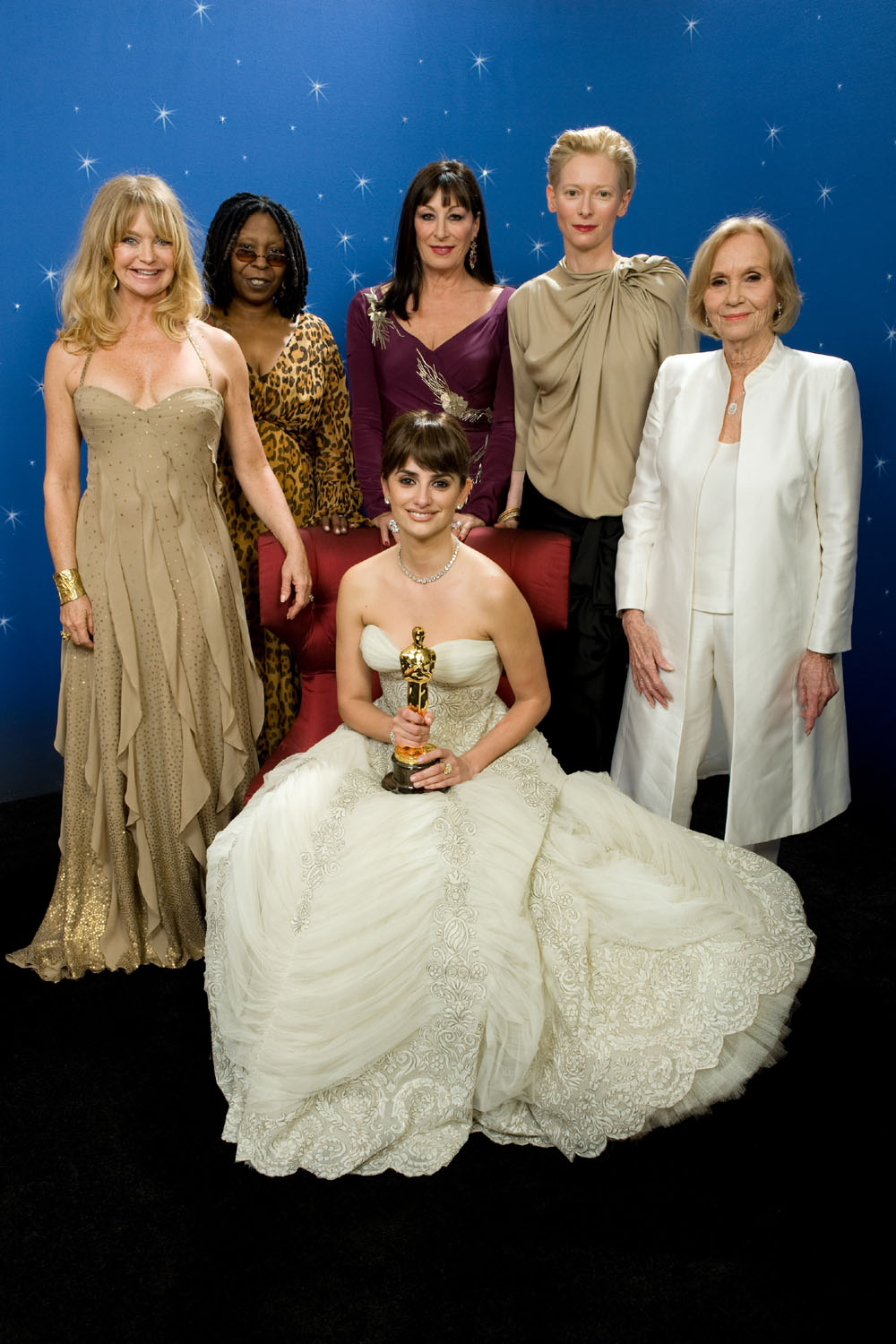 Goldie Hawn, Whoopi Goldberg, Anjelica Huston, Penélope Cruz, Tilda Swinton, and Eva Marie Saint