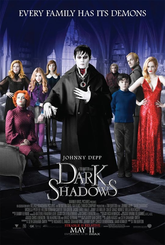 Dark Shadows poster Johnny Depp Tim Burton