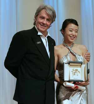 Alain Delon, Jeon do-yeong at Cannes 07