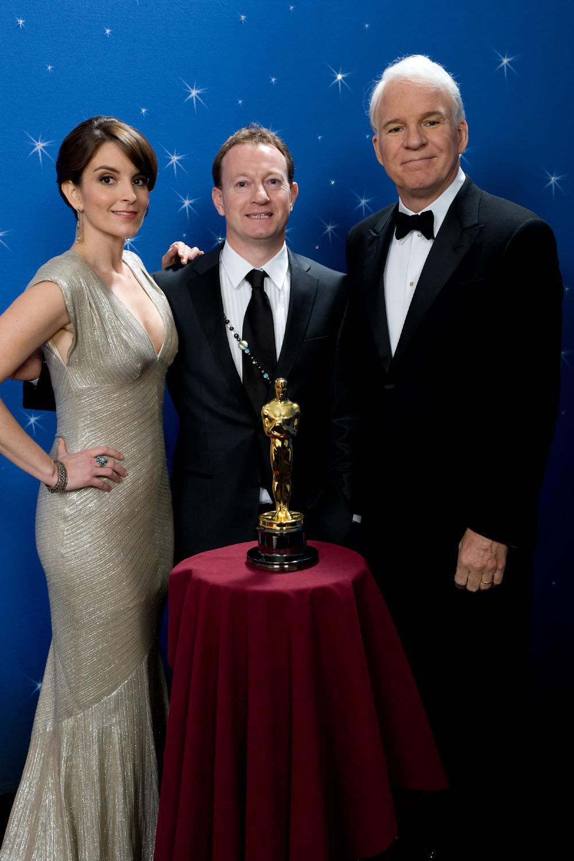 Tina Fey, Slumdog Millionaire screenwriter Simon Beaufoy, Steve Martin