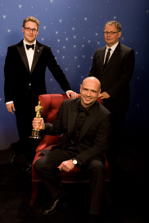 Jochen Alexander Freydank, Seth Rogen and Janusz Kaminski