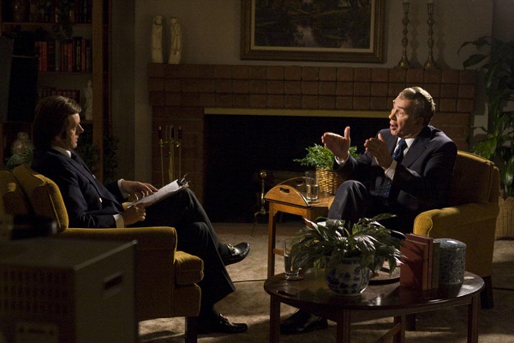 Michael Sheen, Frank Langella in Frost/Nixon