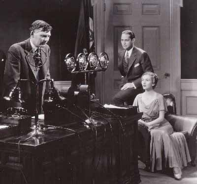 Walter Huston, Franchot Tone, Karen Morley in Gabriel Over the White House by Gregory La Cava