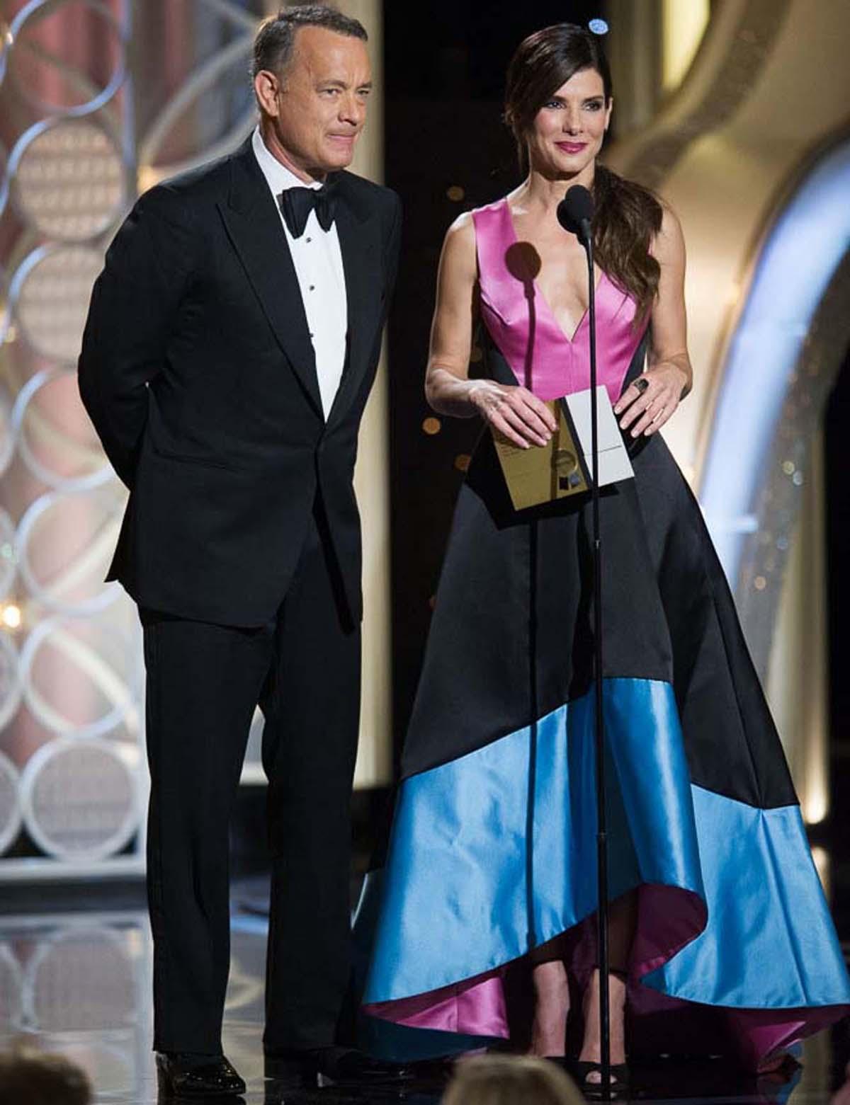 Golden Globes Tom Hanks Sandra Bullock