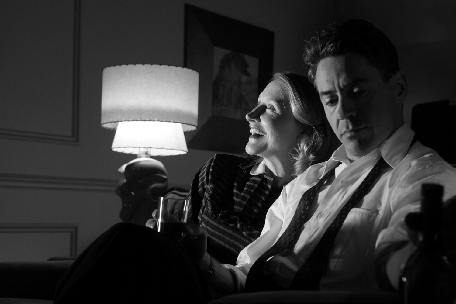 Patricia Clarkson, Robert Downey Jr in Good Night, and Good Luck.
