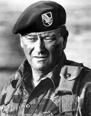 John Wayne in The Green Berets