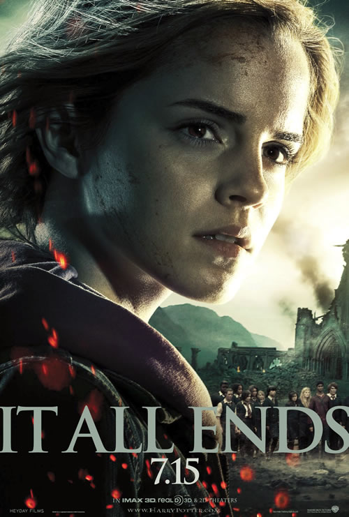 Harry Potter and the Deathly Hallows: Part 2 Emma Watson close-up