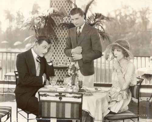 Hallam Cooley, Larry Kent, Colleen Moore in Her Wild Oat